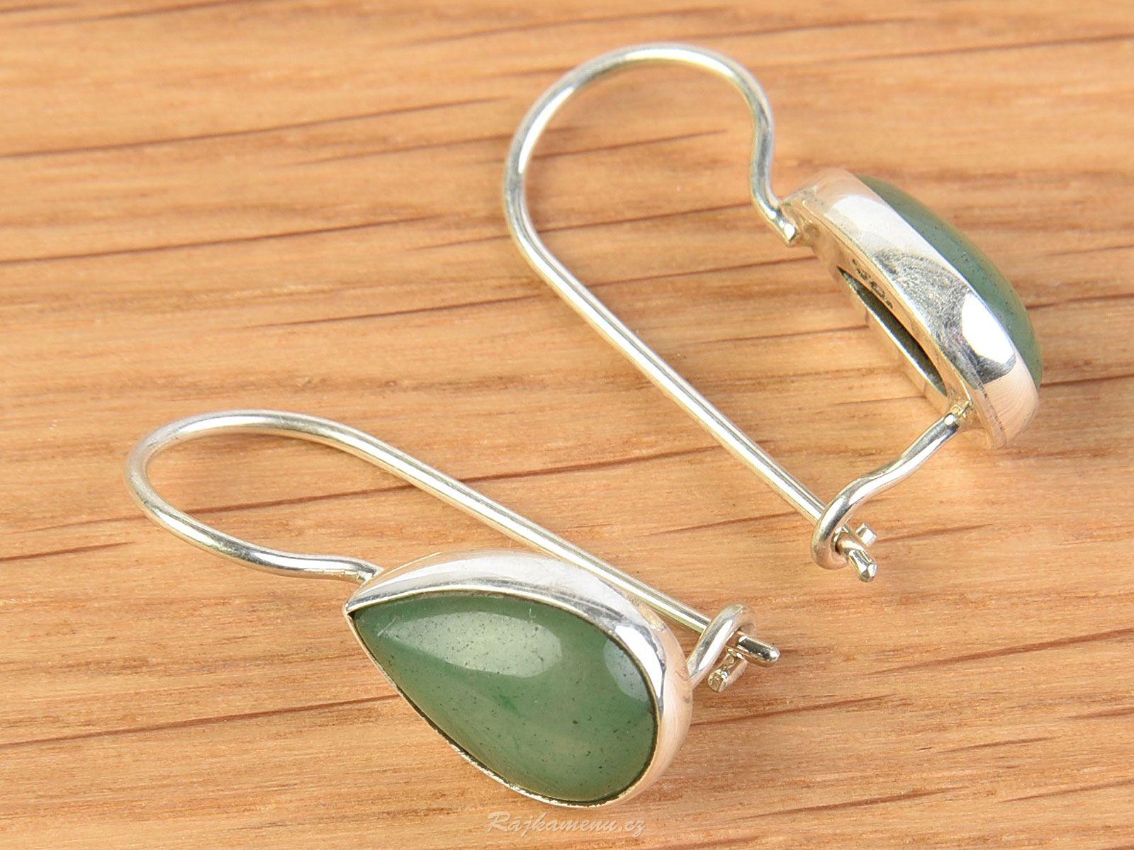 Avanturin Earrings Ag 925 1000 2 8g