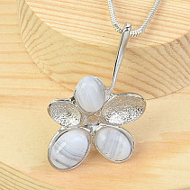 Silver pendant with chalcedony Ag 925/1000