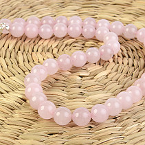 Rose quartz necklace larger beads 48 mm