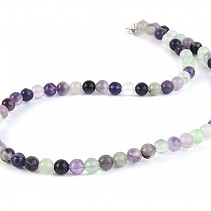 Fluorite Necklace small balls 43 mm