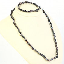 Modroseda set of necklace and bracelet of pearls 45 and 19 cm
