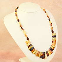 Necklace 53cm amber mix 14.6g