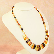 Necklace 54cm amber mix 14.9g