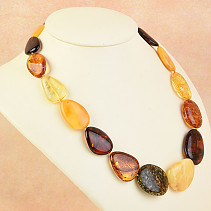 Necklace 48cm amber mix 38.1g
