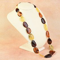 Amber necklace 71cm mix 66.3g