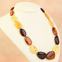 Necklace 52cm extra mix amber 36,5g