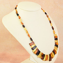 Necklace 53cm amber mix 16.3g