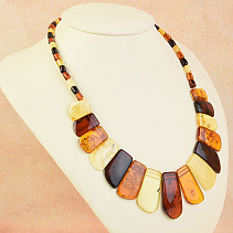 Women's necklace extra mix amber 46cm 22,5g