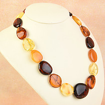 Extra necklace 49cm amber mix 39.4g