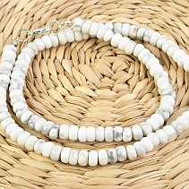 Necklace with magnesite buttons 45cm