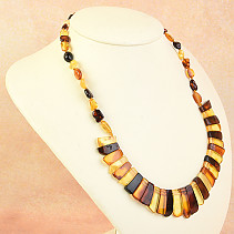 Necklace 47cm amber mix 17,2g