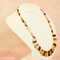 Necklace 54cm amber mix 14.8g