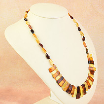 Necklace 52cm amber mix 14.7g