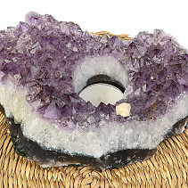 Amethyst candle holder 18,5cm